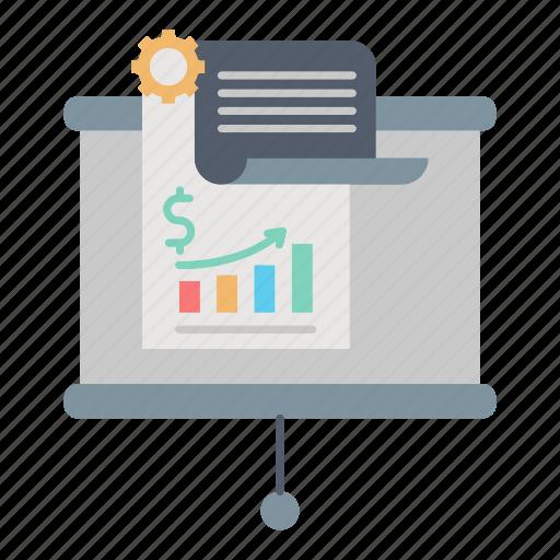 business, finance, growing, market & economics, marketing, report icon