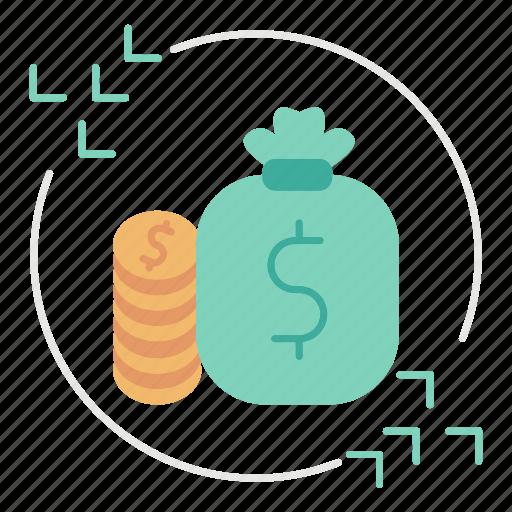 business, currency, flow, market & economics, money icon