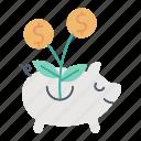 banking, funds, growth, market & economics, raising, savings icon