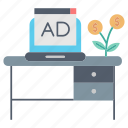 advertisement, advertising, investments, market & economics, sponsor icon