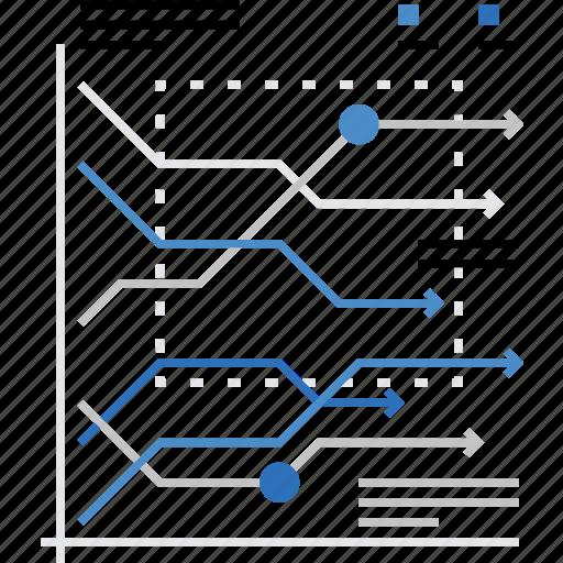 data, direction, graph, index, market, statistics, trends icon