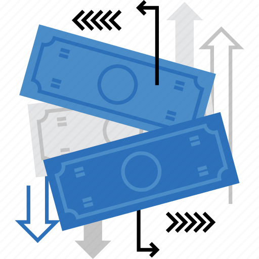 cash, circulation, flow, money, payment, remittance, transaction icon
