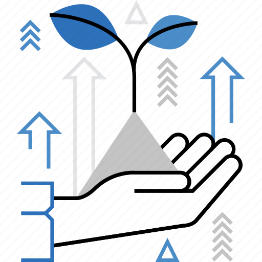 agriculture, gain, grow, increase, plant, progress, prosperity icon