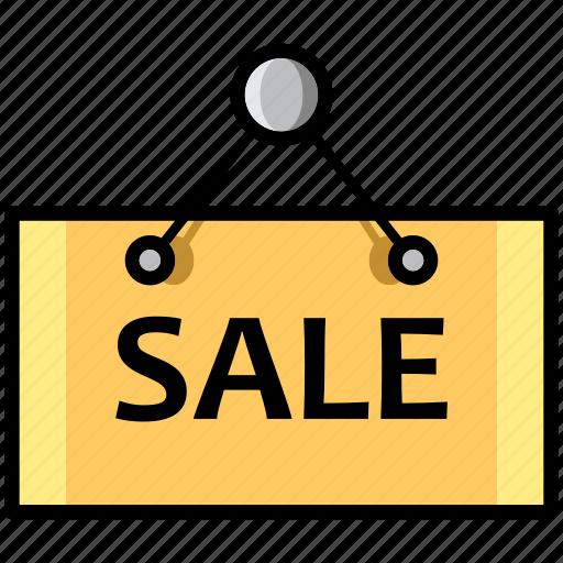 board, close, mall, market, open, sale, store icon