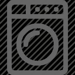 appliances, clothes, laundry, machine, market, washer icon