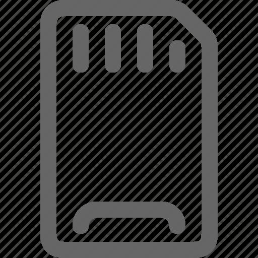 card, data, memory, sd, storage icon