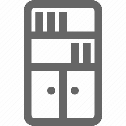cabinet, cupboard, drawers, furniture, market, storage icon
