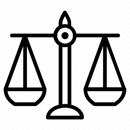 balance, court, justice, measure, scale icon
