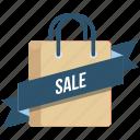 carrybag, cart, label, online, ribbon, sale, tag