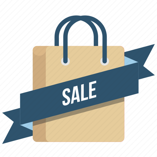 carrybag, cart, label, online, ribbon, sale, tag icon