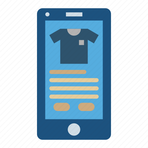 application, mobile, online, shop, shopping, store icon