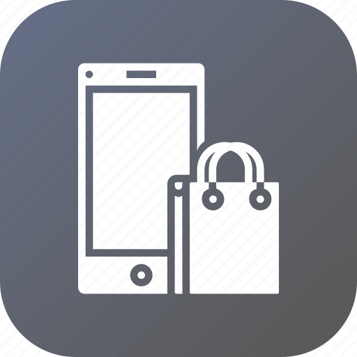 bag, carry, cart, ecommerce, mobile, online icon