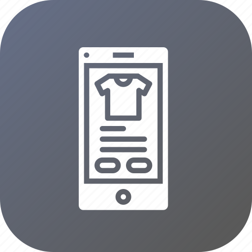 app, garment, mobile, online, product, shopping, store icon