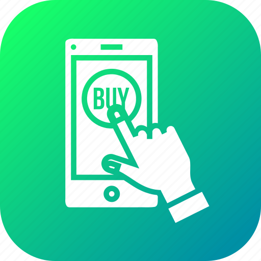 buy, gesture, hand, mobile, online, shopping, store icon
