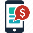 business, buy, cash, ecommerce, mobile, money, online shopping icon