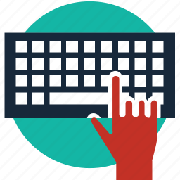 click, coding, computer, device, hardware, input, keyboard icon