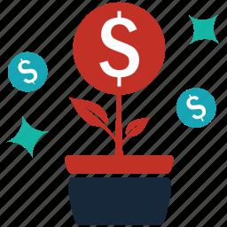 develop, flourish, grow, marketing, progress, prosper, tree icon