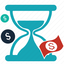 ecommerce, hourglass, loading, money, sand, time, waiting icon