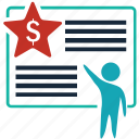 bill, document, finance, ladder, money, page, winner icon
