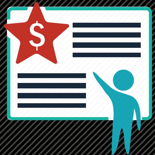 bill, document, finance, ladder, money, page, winner icon