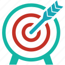 aim, bullseye, business success, goal, marketing, objective, target icon