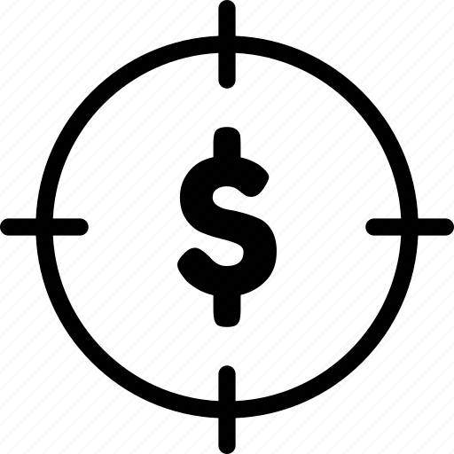 achievement, business, doller, target icon