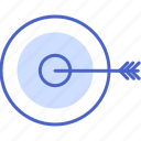 planing, target, marketing, weapons, seo and web, dart board icon