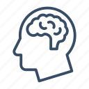 brain, brainstorming, head, intelligence, mind, neurology, think icon