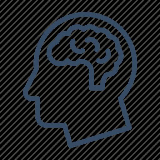 brain, brainstorming, head, intelligence, mind, neurology, think icon