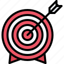 arrow, marketing, promotion, seo, target icon