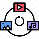 file, marketing, music, picture, seo, sharing, video icon