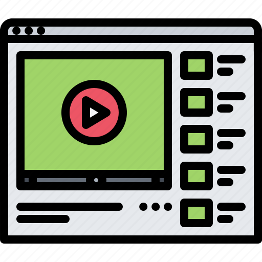 blog, channel, marketing, promotion, seo, video icon