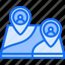 freelancer, freelancing, map, marketing, pin, promotion, seo icon