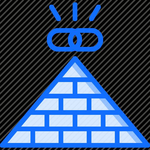 link, marketing, promotion, pyramid, seo icon