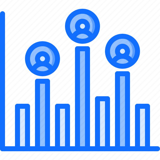 graph, marketing, network, promotion, seo, social, visitor icon