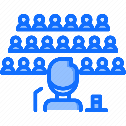 audience, conference, marketing, presentation, promotion, seo, speech icon