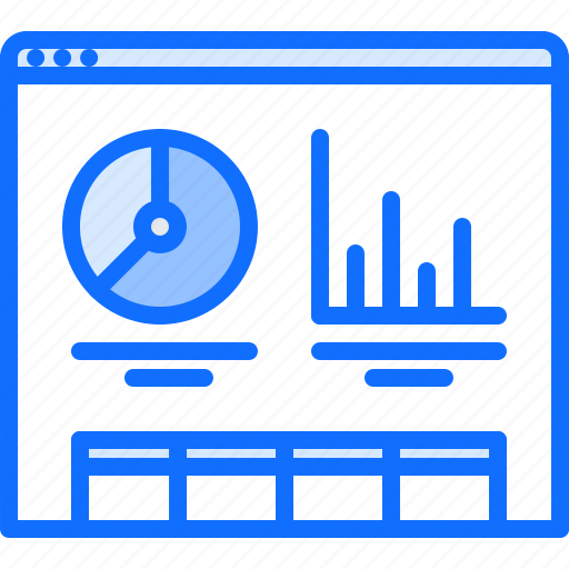 graph, marketing, metrics, promotion, report, seo, web icon