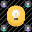 crowdfunding, idea, investment, marketing, money, promotion, seo icon