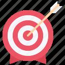arrow, marketing, promotion, seo, target icon