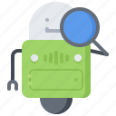 crawler, marketing, promotion, robot, search, seo, web icon