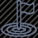 bullseye, flag, goal, marketing, objective, pole, target icon