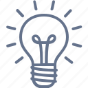 bright, bulb, ideas, light, lit, smart, solution icon