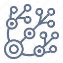 circuit, connection, hub, network, neural, nexus, share icon