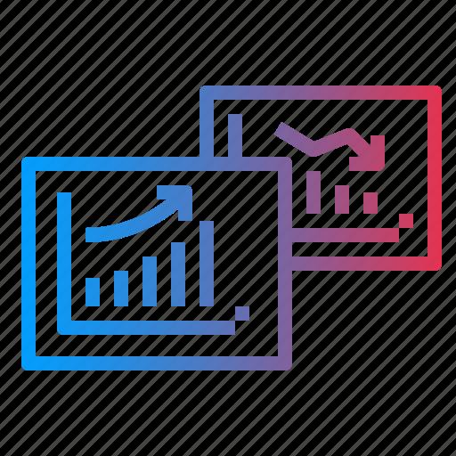 comparative, diagram, graph, report, statistics icon