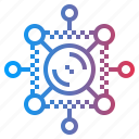 circles, interface, media, network, share, social icon