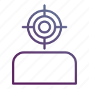 aim, audience, business, goal, marketing, target icon