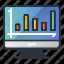 board, chart, graph, growth, marketing icon, screen, traffic icon