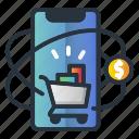 device, dollar, marketing, marketing icon, mobile, shop icon