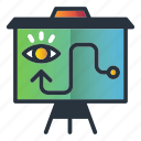 board, eye, marketing, marketing icon, show, strategy icon
