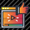 ad, ads, like, marketing, marketing icon, screen, video icon
